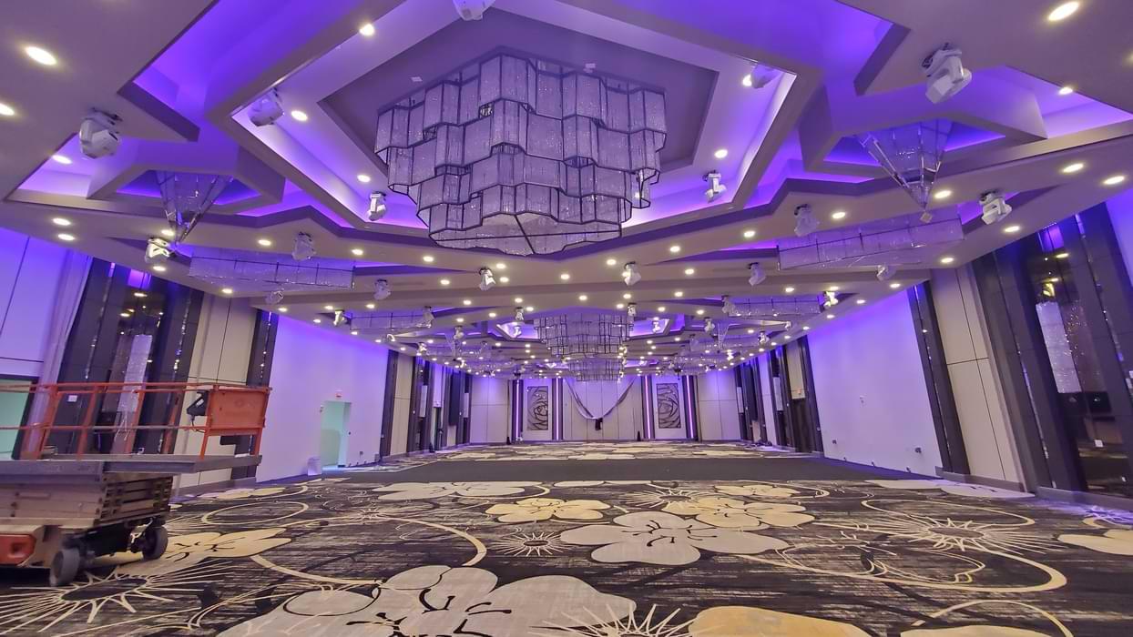 commercial lighting installation